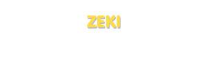 Der Vorname Zeki