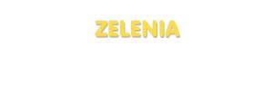 Der Vorname Zelenia