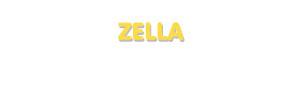 Der Vorname Zella