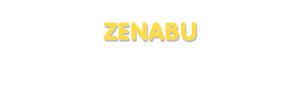 Der Vorname Zenabu