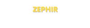 Der Vorname Zephir