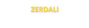 Der Vorname Zerdali