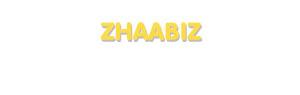 Der Vorname Zhaabiz