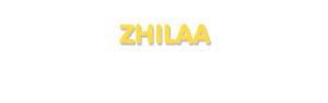 Der Vorname Zhilaa