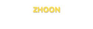 Der Vorname Zhoon