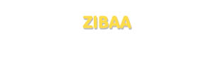 Der Vorname Zibaa