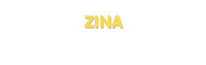 Der Vorname Zina