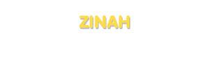 Der Vorname Zinah