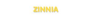 Der Vorname Zinnia