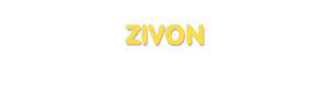 Der Vorname Zivon