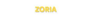 Der Vorname Zoria
