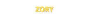Der Vorname Zory