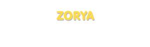 Der Vorname Zorya