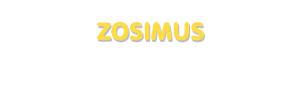 Der Vorname Zosimus