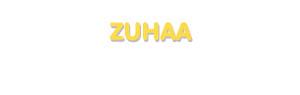 Der Vorname Zuhaa