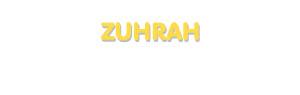 Der Vorname Zuhrah