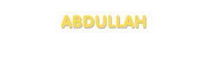 Der Vorname Abdullah