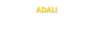 Der Vorname Adali