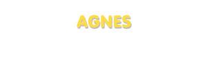 Der Vorname Agnes