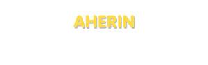 Der Vorname Aherin