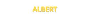 Der Vorname Albert