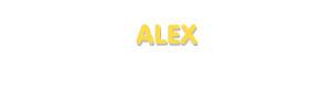 Der Vorname Alex