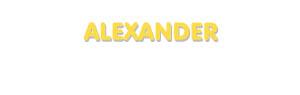 Der Vorname Alexander