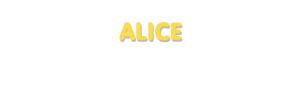 Der Vorname Alice