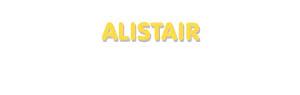 Der Vorname Alistair