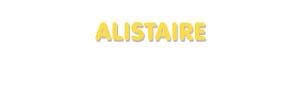 Der Vorname Alistaire