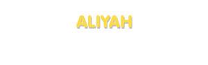 Der Vorname Aliyah