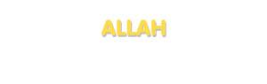 Der Vorname Allah