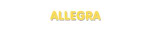 Der Vorname Allegra