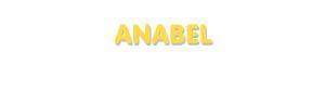 Der Vorname Anabel