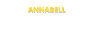 Der Vorname Annabell