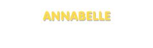 Der Vorname Annabelle