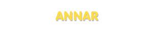 Der Vorname Annar