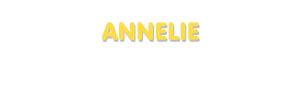 Der Vorname Annelie