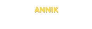 Der Vorname Annik