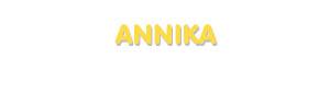 Der Vorname Annika