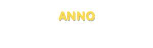 Der Vorname Anno