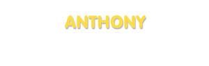 Der Vorname Anthony