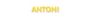 Der Vorname Antoni