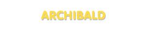 Der Vorname Archibald