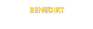 Der Vorname Benedikt