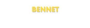 Der Vorname Bennet