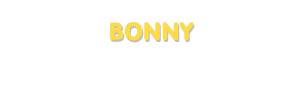 Der Vorname Bonny