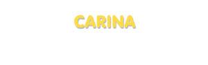 Der Vorname Carina