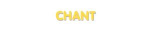 Der Vorname Chant