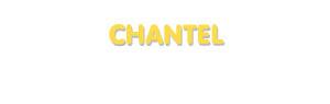 Der Vorname Chantel
